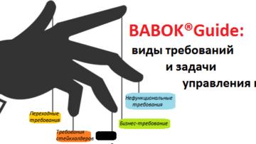 Виды требований и задачи управления ими по BABOK®Guide